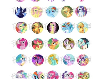 My Little Pony Bottle Cap Images, 30 digital images