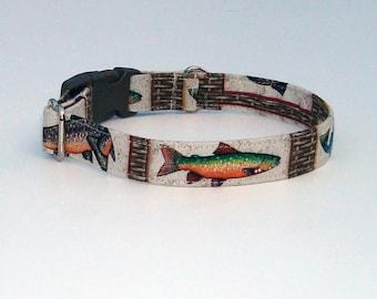 Gone Fishing! Dog Collar