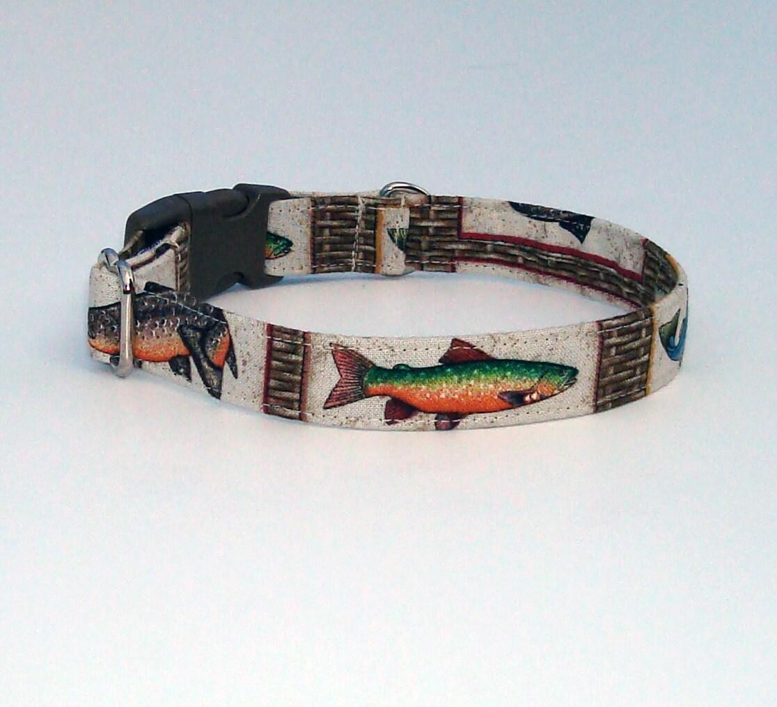 Gone fishing dog collar for Fish dog collar