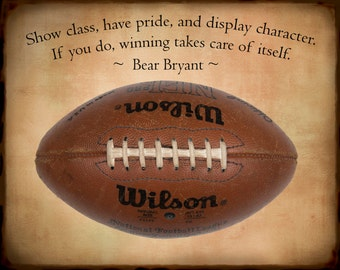Vintage Football Print, Football Photo with Quote Boys Room Wall Decor Kids Room Man Cave Masculine Photo Guys #vi37