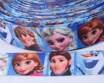 SALE****Frozen Ribbon 7/8 Inch Grosgrain Ribbon by the Yard !!