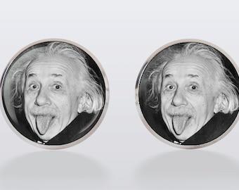 Albert Einstein Cufflinks cuff links, Einstein, men cuff links, wedding, groom, groomsmen,vintage, vintage style