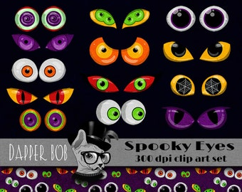Clip Art Spooky Eyes Clip Art scary eyes etsy shop in art collectibles