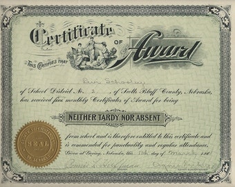 Attendance certificates & Royal American certificate 1901 -1911 download