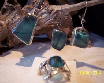 Sea Glass In Sterling Silver