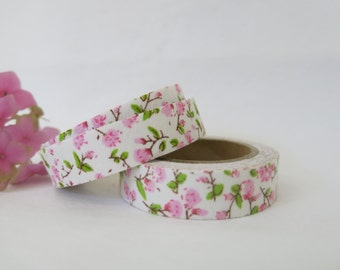 Floral Fabric Tape / Adhesive Decoration Fabric Tape  FT035