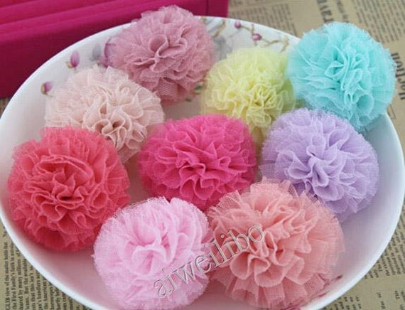 Gauze Flower, Lace Flowers Hair Accessories Supplies