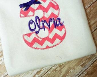 Girls First Birthday Shirt, Birthday Number Shirt, Birthday Gift, Custom Fabrics, Colors, and Font, Girls Birthday Shirt