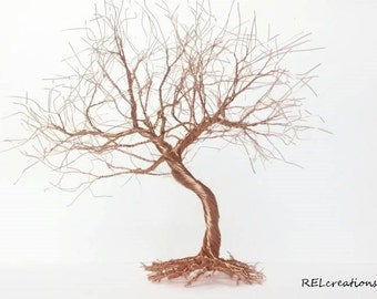 Wire Tree Sculpture - Bonsai Tree - Wedding Cake Topper