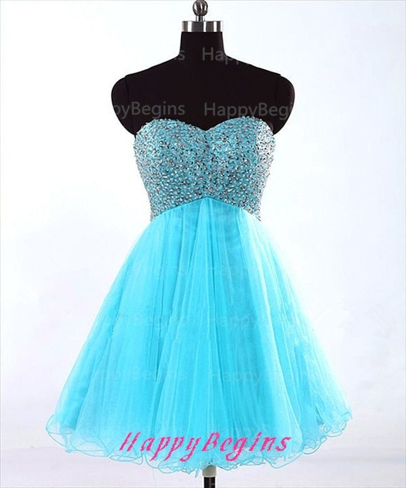 Turquoise Short Prom Dresses 37
