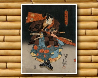 Japanese Decor Asian Art Print Retro Poster (J13)