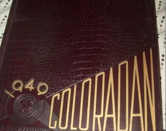 1949 Boulder  College School Yearbook University of Colorado The Coloradan