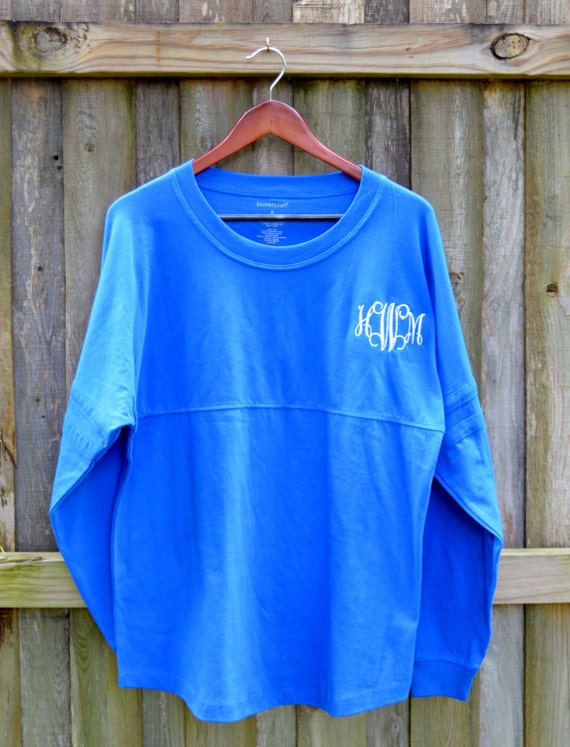 monogrammed spirit pom jersey pullover