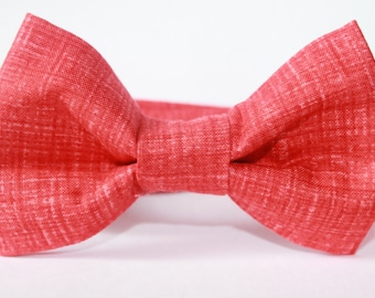 Bright red bow tie, baby, boy, adjustable velcro closure