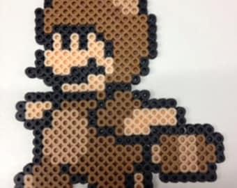 Mario in a Tanooki Suit -  Super Mario Brothers 3 Perler Bead Pixel Art