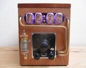 Bad Dog Designs Steampunk Galvanometer Nixie Clock