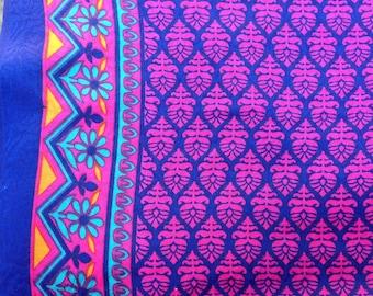 Fabric, cashmere fabric, cotton fabric, border print from India, indian prints, border print, yardage, indian yardage, khadi