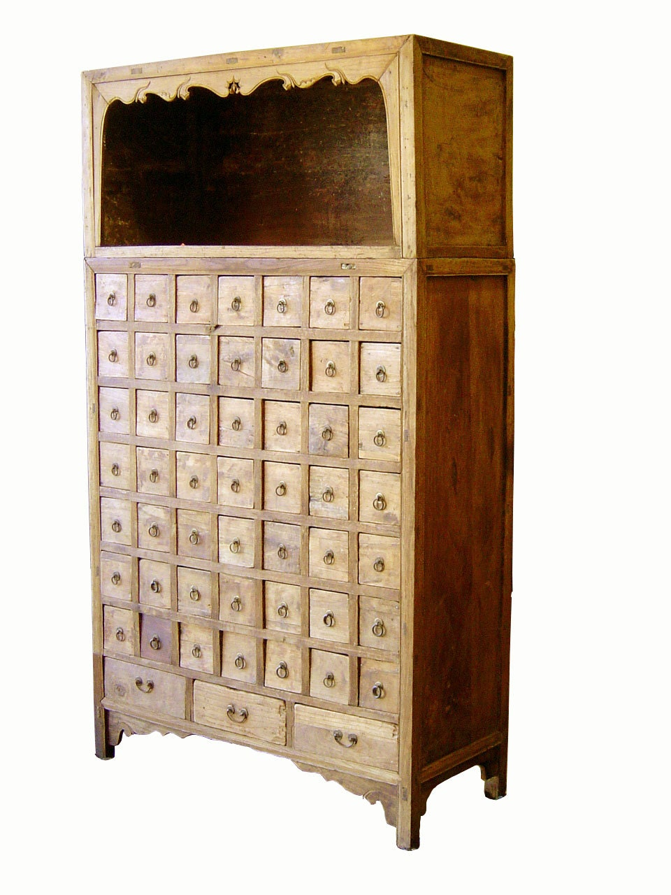 Antique Chinese Apothecary Cabinet Cypress Wood Circa of