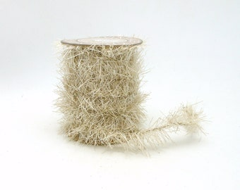 Ivory Tinsel Garland Spool  - 4 Yards