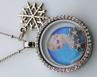 Frozen Inspired Locket Necklace