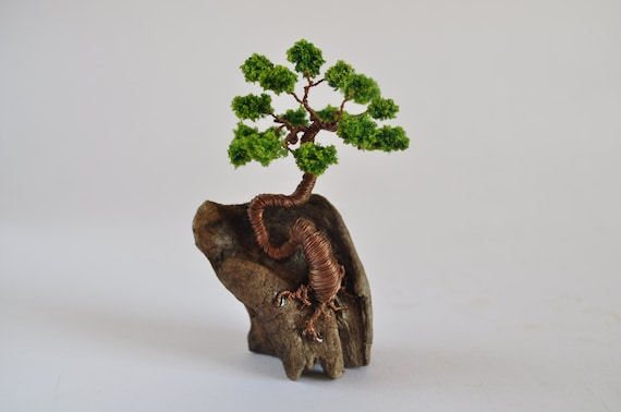 Miniature Wire Bonsai Tree Wire Tree Driftwood Art Tree