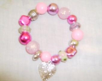 Handmade MURANO GLASS Stretch Bracelet