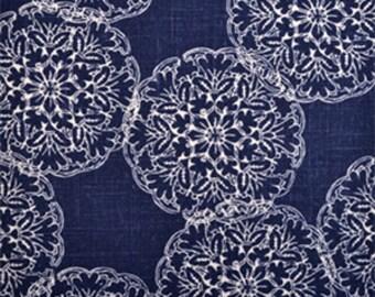 Designer Decorative Pillow Cover-Indigo Blue-Floral Pillow Cover- Accent Pillow-Lumbar Pillow Cover-Choose Your Size