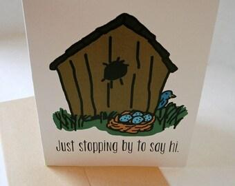 Just Because Card - Birdhouse Card