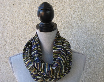 Fabric scarf, Infinity scarf, loop scarf, tube scarf, eternity scarf, long scarf in multiple colors