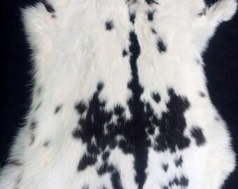 Black & White Rabbit Pelt