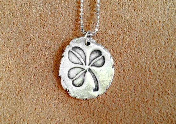 999 silver clover pendant handmade 999 silver pendant by