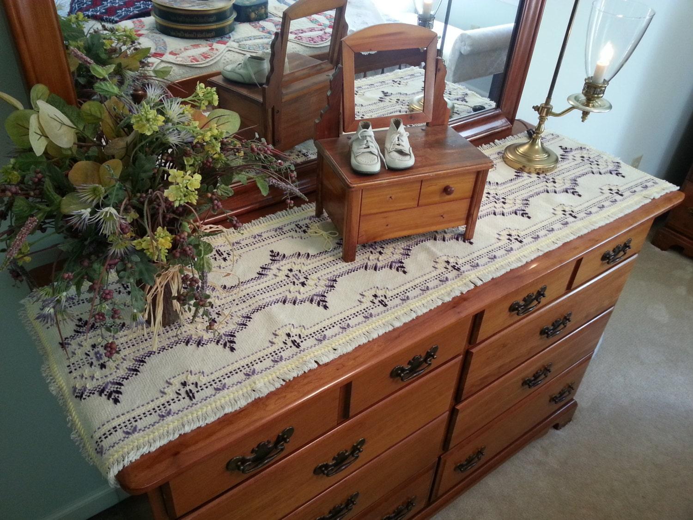 Buttercup Table Runner/Dresser Scarf/Home Decor/Doily/Spring