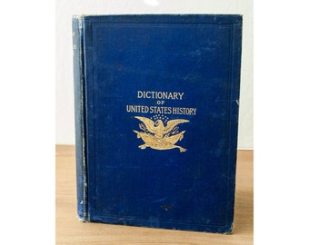 Dictionary of United States History 1492 - 1895, J. Franklin Jameson, American History Book, Vintage History Book, US History Book