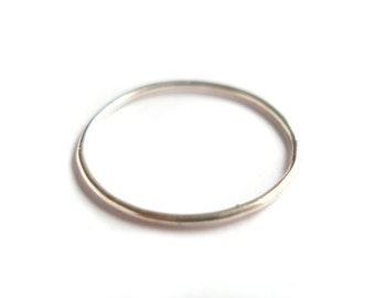 Silver ring very very thin fine 925 Silver stacking ring knuckle knuckle ring