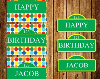 Sesame Street Birthday Sign - CUSTOM - Digital -