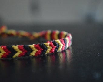 Iron Man-themed woven thread bracelet