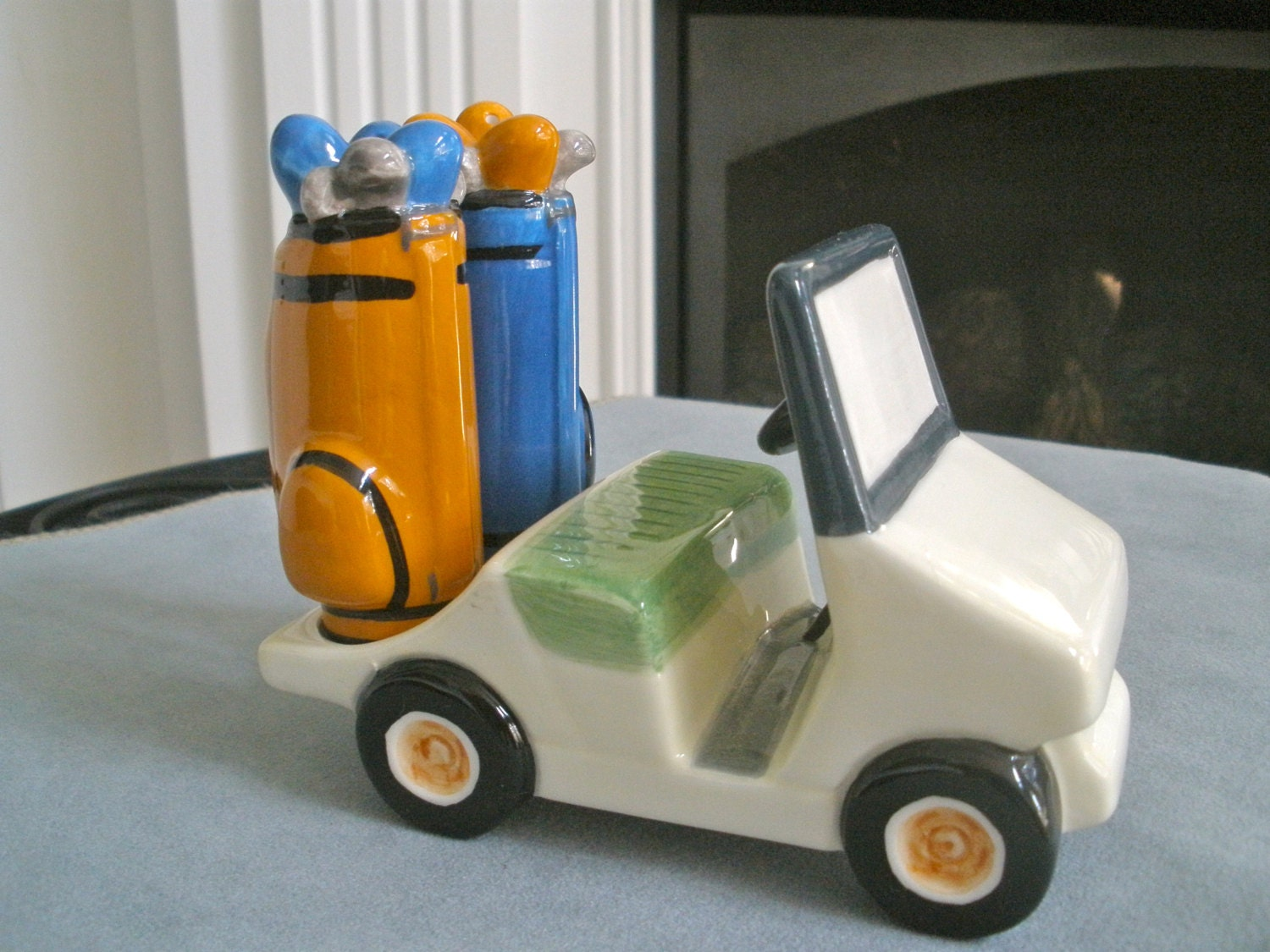 Fun Golf Cart With Bags Salt And Pepper Shaker Set By Fig