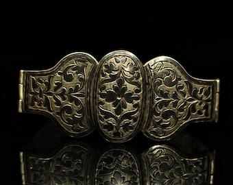 Antqiue original perfect caucaisan niello belt buckle