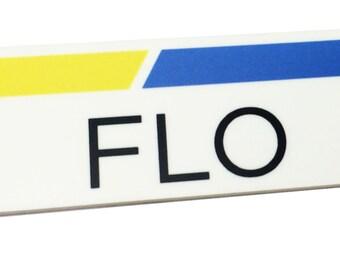 1 x 3 Plastic FLO Name Tag Badge ONLY Progressive Insurance Halloween Prop