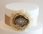 Champagne Wedding Cake Decorations, Champagne Wedding Accessory, Vintage, Cake Decoration, Counrty Party Decoration