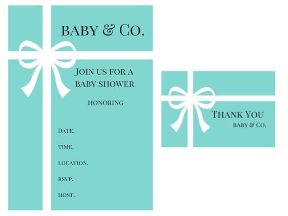 Tiffany Inspired Baby Shower Invitations as best invitations ideas