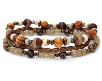 Men's Bracelet Set, Stretch Bracelets, Stack Bracelets, Masculine Bracelet, Unisex Bracelets, Boyfriend Gift, Husband Gift