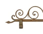 Antique Wrought Iron Hanging Sign Bracket / Ornamental Wrought Iron / Shop Sign Bracket / Pub Sign Hanger / Architectural Salvage