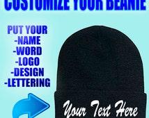Personalize beanie, Personalize Your Beanie, Personalize your hat, Customize hat, Customize your winter hat, Monogram Beanie