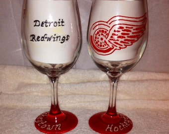 Detroit Redwings Glass