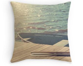 Lake Pillow, Cushion Cover, Decorative Pillow, 40cm Pillow, Lake House Decor, Water, Rustic, 16x16, 18x18, 20x20