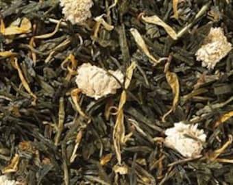 Green Tea Blend, Ginger-Peach - Loose Leaf Tea