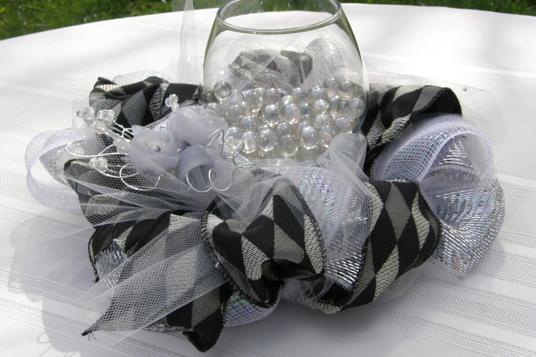 Wedding reception anniversary centerpiece wedding wreath for Deco decorations