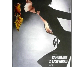 The Witches of Eastwick Original film poster from Czechoslovakia