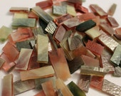 Mosaic Tile 130 Pinks, Green. Cream  Stained Glass  Mosaic Tiles